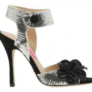 Betsey Johnson sequin heels